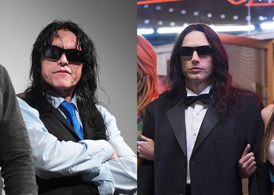 Tommy Wiseau vs. James Franco as Tommy in The Disaster Artist. Matt Winkelmeyer/Getty Images for SXSW and A24 Films